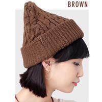 Caballero 秋冬麻花编织帽子 多规格可选 标准 Brown