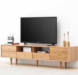 原始原素 B3083 北欧纯全实木电视柜 1.5m单抽两门
