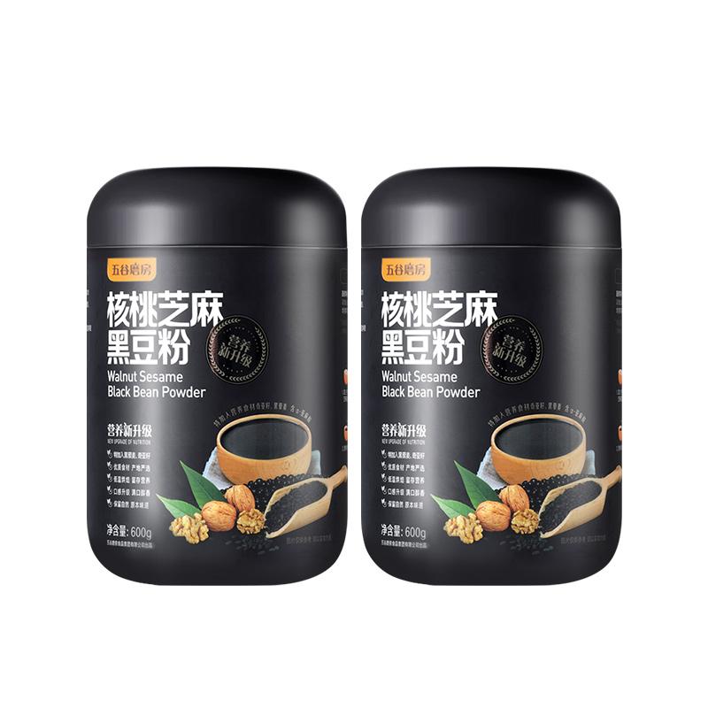 五谷磨房 核桃芝麻黑豆粉 600g*2罐