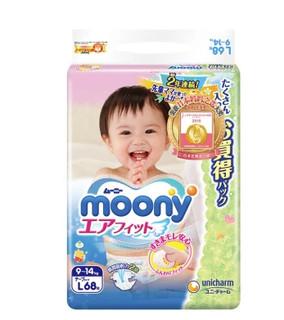 Moony纸尿裤L68片 *5件
