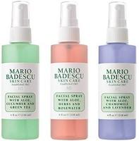 中亚prime会员:Mario Badescu Spritz 喷雾和发光面部喷雾系列,3 件套 - 薰衣草,黄瓜,玫瑰红