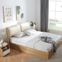 顾家家居 B859 真皮软包储物床+M0008C床垫 1.8m