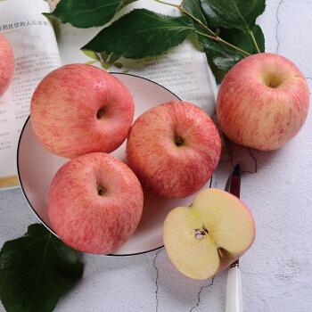 佑嘉木  山东烟台栖霞红富士苹果 80-85果径  净重5斤