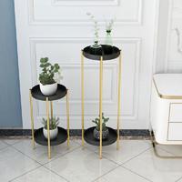 北欧客厅ins架子热卖新品简约绿萝落地式轻奢多层置物室内花盆