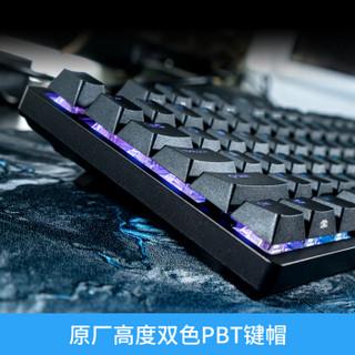 DURGOD 杜伽 K310 NS cherry樱桃轴 104键机械键盘 深灰紫 樱桃茶轴
