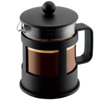 bodum波顿法压壶 欧洲进口 玻璃咖啡壶家用便携 手动泡茶过滤杯