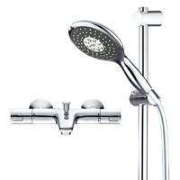 考拉海购黑卡会员 : GROHE 高仪 26112000+34598000 恒温带下出水淋浴花洒套装