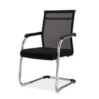 欧宝美办公电脑椅会议椅职员椅网布弓形椅黑色