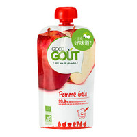 GOOD GOUT 嘎拉苹果泥 婴幼儿辅食宝宝零食果泥(6个月以上适用) 120g 欧洲原装进口