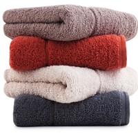 三利 长绒棉素色毛巾 34*76cm*100g 4条装