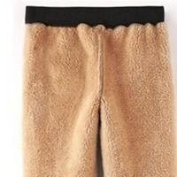 蒂嗒嗒 Di.dada 女士羊羔绒运动裤
