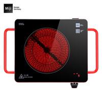 米技D6红 德国米技炉家用电陶炉定时款双圈烹饪静音 数显升级款