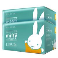 Miffy 米菲 呼吸超薄柔软透气L码纸尿裤*2箱
