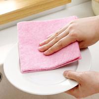 自然醒网红厨房抹布洗碗布 吸水去油刷碗不粘油百洁布洗碗巾 1条 1条装(颜色随机)