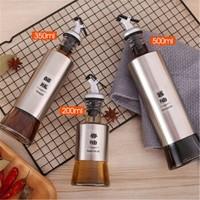 桫椤 不锈钢防漏调料瓶 三件套(200ml+350ml+500ml)