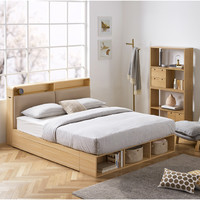 顾家家居 315 简约现代床头收纳榻榻米储物床 1.8m