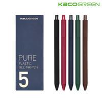 KACO 文采 按动彩色中性笔0.5 国风5支(彩芯)