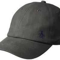 Original Penguin 男式斜纹标识棒球帽