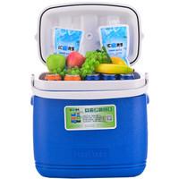 艾森斯(icers)高品质带轮外卖PU保温箱 药品冷藏箱 生鲜保鲜箱16L 26L 36L