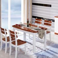 光明家具 WX7-4112 水曲柳餐桌椅组合 一桌四椅