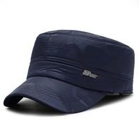 俏俏人 老人帽子 蓝色