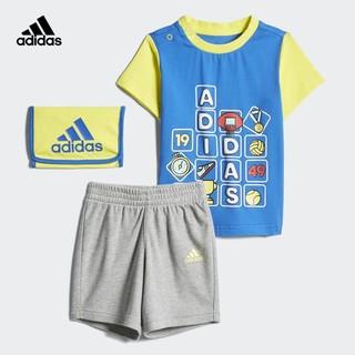阿迪达斯官网adidas IB CD TEE SET婴童装训练短袖针织套装DZ2411
