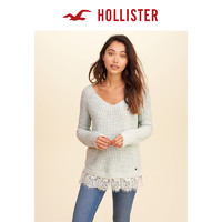 Hollister蕾丝下摆针织衫毛衣 女 132918