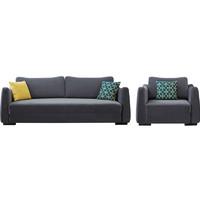 QuanU 全友 102371 现代简约布艺可折叠沙发床