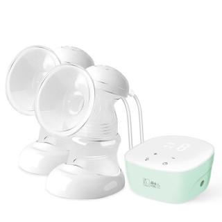 好女人(HORIGEN)双边电动吸奶器 自动挤奶器集奶器双头  锂电触屏拔奶器 口径自适配 一体软三通-绿色
