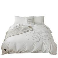 LASIKALA 拉斯卡拉 E4zYCdC8 黑白插画全棉床上四件套