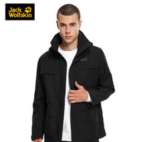 JackWolfskin/狼爪男士秋季新款户外运动防风防水透气风衣冲锋衣休闲外套
