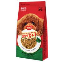 开饭乐宠物狗粮  小型犬大型犬通用成犬粮2KG 营养3+1皮毛加分