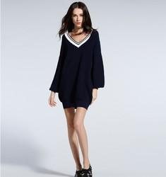 Five Plus  2JM1032010 V领长袖针织连衣裙