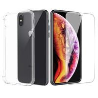 ESCASE 苹果iPhoneXsMax手机壳 苹果钢化膜 6.5英寸全包气囊防摔软壳保护套透明