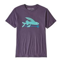 PATAGONIA 巴塔哥尼亚Flying Fish 有机棉男式T恤飞鱼T恤圆领衫吸汗透气39145 PTPL-峻峭紫 M
