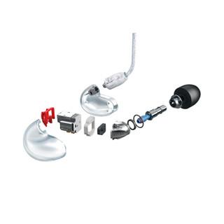 SHURE 舒尔 SE846-BT2 入耳式耳塞式动铁双模耳机 透明色