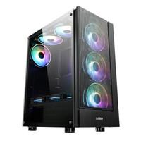 先马SAMA 破坏神X1 精品游戏机箱(亚克力侧透,宽大背线,兼容显卡315mm,U3) 破坏神X1