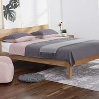 雙11預售: QM 曲美家居 北歐橡木雙人床 1.8*2m框架床