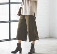 UNIQLO 优衣库 420342 高腰灯芯绒宽腿七分裤