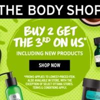 海淘活动:THE BODY SHOP美国官网 身体护肤 买2送1