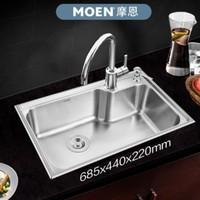 MOEN 摩恩 29016 304不锈钢单槽水槽龙头套装 +凑单品