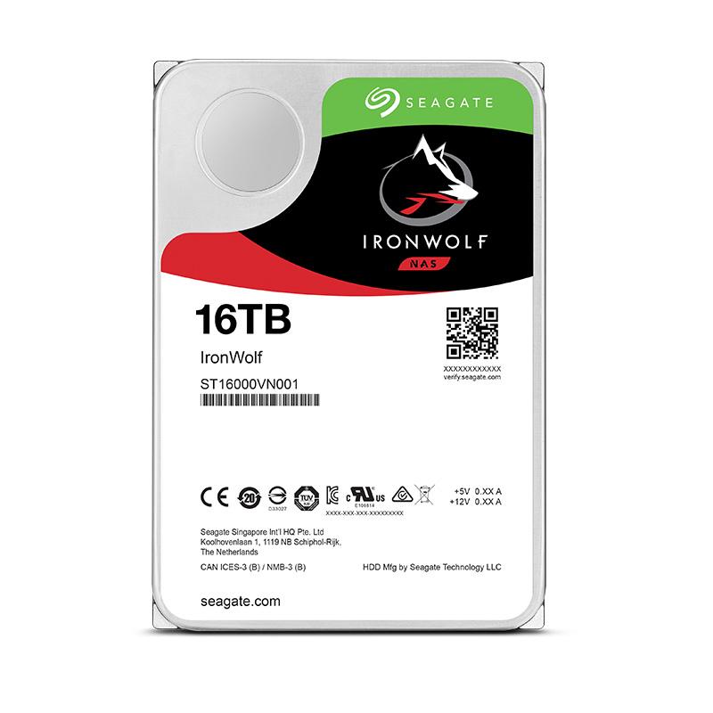 SEAGATE 希捷 酷狼系列 16TB NAS硬盘(ST16000VN001、7200RPM)