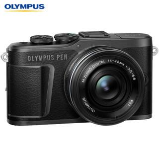 OLYMPUS 奥林巴斯 E-PL10 M4/3画幅 微单相机 (黑色、14-42mm EZ + 40-150mm R 双镜头、请选择、套机)