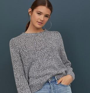 H&M DIVIDED 0679853 女士宽松针织衫
