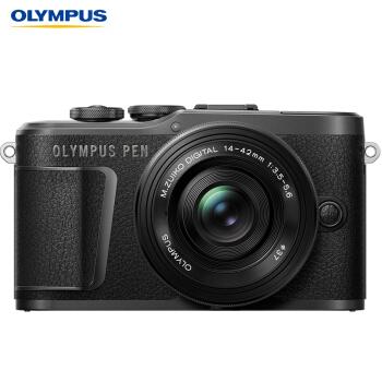 奥林巴斯(OLYMPUS)E-PL10 14-42mm EZ 微单电/数码相机 epl10照相机 4K视频 美颜自拍 单镜头 黑色