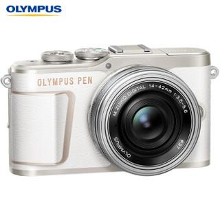 OLYMPUS 奥林巴斯 E-PL10 M4/3画幅 微单相机 (白色、14-42mm EZ、请选择、套机)