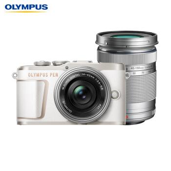 奥林巴斯(OLYMPUS)E-PL10 14-42mm EZ 40-150mm R微单电/数码相机 epl10防抖照相机 双镜头 白色