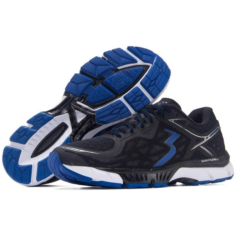 361° spire 2 Y712-1 男士顶级缓震跑鞋 (黑色/亮蓝、39.5)