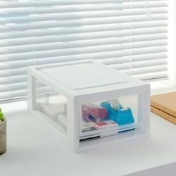IRIS 爱丽思 BC330 抽屉式收纳盒 透明/白  6L *3件