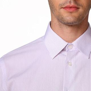 InteRight DP100 男士长袖衬衫 (红条、39)